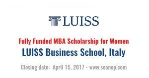 MBA scholarship italy