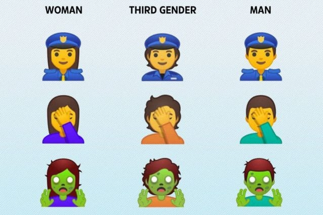 Google propone un terzo genere per le emoji: né maschio né femmina