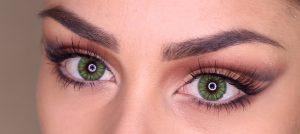 lenti colorate effetto naturale verdi